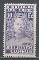 Belgian Congo 1928. Scott #128 (M) Sir Henry Morton Stanley (1841-1904), Explorer * - 1923-44: Mint/hinged