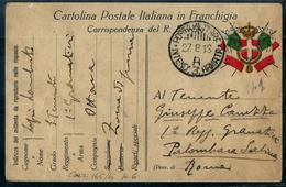 FRANCHIGIA PM INTENDENZA 3° ARMATA  A I° GRANATIERI X I° RGT GRANATIERI PALOMBARA SABINA ROMA - War 1914-18