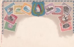 CPA Guatemala - Représentation Timbres (carte Repoussée) - Timbres (représentations)