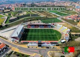 Portugal Chaves Municipal Stadium New Postcard Stadion AK - Fussball