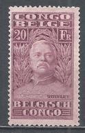 Belgian Congo 1928. Scott #129 (M) Sir Henry Morton Stanley (1841-1904), Explorer * - Belgisch-Kongo