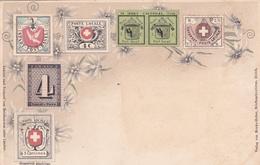 CPA Suisse / Switzerland - Représentation Timbres - Timbres (représentations)