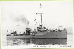 DAGUE  Torpilleur  1911  / Photo Marius Bar, Toulon / Marine - Bateaux - Guerre - Militaire - Guerra