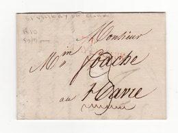 Pli De 1810    Marque Postale De SAINT VALERY EN CAUX - Marcophilie (Lettres)