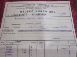 1939 BONS à LOTS ASSOCIATION DE LA PRESSE 1887-RELEVÉ NUMÉRIQUE SOCIÉTÉ GÉNÉRALE CHINON-Fiscal Action Titre - Aandelen