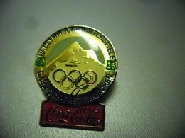 Grand Pin's COCA COLA - 4° Olympiade D'Hiver J.O En 1936 Allemagne Nazi à Garmisch Partenkirchen @ 32 Mm X 25 Mm - Coca-Cola