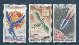 """Gabon Aerien YT 94 à 96 (PA) """" Série Sur L'Espace """" 1970 Neuf** - Gabon (1960-...)"""