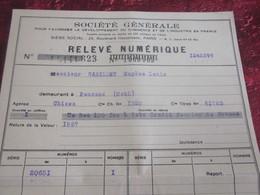 WW2 1939 BON à LOT CREDIT FONCIER DE FRANCE 1887 -RELEVÉ NUMÉRIQUE SOCIÉTÉ GÉNÉRALE CHINON-Fiscal Action Titre - Aandelen