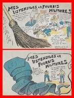 6 CPA MILITARIA. Humoristiques. 5 Mes Ustensiles Et Fourbis Militaires Et 1 La Sainte Perme...H484 - Humour