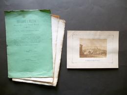 Il Castello Di Poppi In Toscana Fotografia Articolo Educazione E Diletto 1875 - Livres, BD, Revues