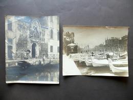 Due Fotografie Originali Venezia Nevicata Procuratie S. Cristofaro Primo '900 - Foto