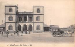 """M08265 """"ISMAILIA-THE STATION""""ANIMATA-STAZIONE-OMNIBUS - CART. ORIG. DATATA 9 AGOSTO 1921 - Ismailia"""