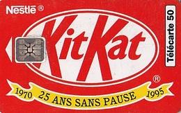 FRANCE Télécarte 50 Unités   Sc5  01.95   Kit Kat De Nestlé    Tirage 1.9 K Ex. - Advertising