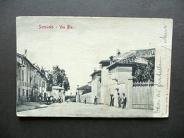 Cartolina Postale Sassuolo Via Pia Foto Giovanardi Dieci 1905 Viaggiata Modena - Modena