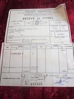 1952 -OBLIGATIONS 2000fr-CREDIT NATIONAL 1941/53-RELEVÉ DE TITRE SOCIÉTÉ GÉNÉRALE CHINON-Fiscal Action Titre - Aandelen