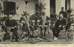 India, Raja Of Rajgangpur Orissa With His Son (1910s) Postcard - India