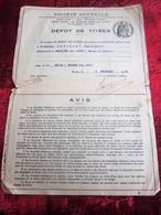 1935 - -DÉPÔT DE TITRE-SOCIÉTÉ GÉNÉRALE CHINON- Fiscal Action Titre - Aandelen
