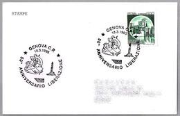 50 Años LIBERACION DE GENOVA - 50 Years Liberation. Genova 1995 - WW2 (II Guerra Mundial)