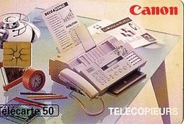 FRANCE Télécarte 50 Unités   Gem 10.95   Canon Télécopieurs      Tirage 1 K Ex. - Advertising