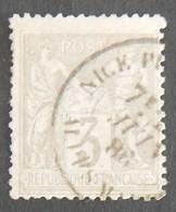 FRANCE YT 87 3 C GRIS CAD NICE 7 JUIN 86 - 1876-1898 Sage (Type II)