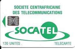 CARTE-PUCE-CENTRE AFRIQUE-120U-SC5-SOCATEL-VERT-N°Ge 43757-TBE - Central African Republic