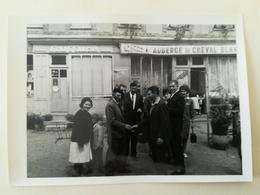 ENSEIGNE L ' AUBERGE DU CHEVAL BLANC Et SALON DE COIFFURE  À LOURDES OCCITANIE FRANCE 15 Photos + 2 Cartes Postales - Lieux