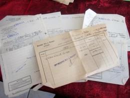 1933- 11 LOTS ACHAT ACTIONS TITRES-FRIBOURG-MADRID-PARIS-CREDIT-LIEGE-ANVERS-SOCIÉTÉ GÉNÉRALE CHINON - Aandelen