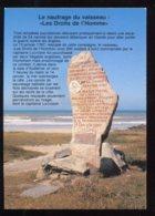"""CPM 29 PLOZEVET Et POULDREUZIC Le Menhir Rappelant Le Naufrage Du """" Les Droits De L'Homme """" - Plozevet"""