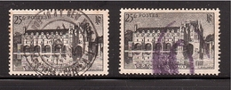 GUERRE 40 Chenonceaux Obl. USA Télégramme Postes X 2 N° 611 - 1921-1960: Modern Period