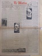 Journal Le Matin (15 Janv 1923) L'occupation De A Ruhr - Mort De M Ribot - Disparition Peste En France - - Kranten