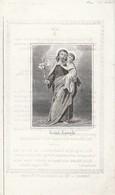 Barbara  Aerts-holsbeek 1873-scheef Gesneden - Images Religieuses