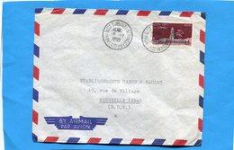 MARCOPHILIE-Lettre Cote Des Somalis > Françe-Cad  - 1959+  Stamps-282 15frs Mosquée - Lettres & Documents