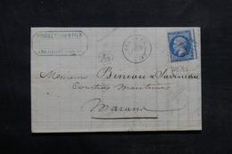 FRANCE - Lettre De Ars En Ré En 1867 Pour Marans , Affranchissement Napoléon , Variété De Piquage  - L 33663 - Poststempel (Briefe)