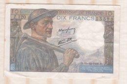 10 Francs Mineur 19 – 12 - 1946 Alphabet Z.120 N° 55598 - 1871-1952 Anciens Francs Circulés Au XXème