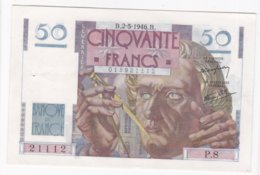 50 Francs Le Verrier 2 – 5 – 1946. Alphabet P.8 N° 21112 - 1871-1952 Circulated During XXth