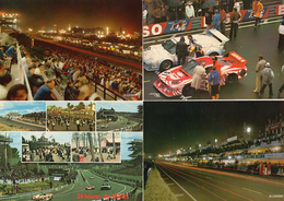 72 . LE MANS . CIRCUIT DES 24 HEURES . Petit Lot De 4 Cartes Postales - Le Mans