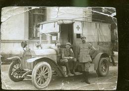 AMBULANCE MILITAIRE CP PHOTO                                              NOUVEAUTE - Guerre 1914-18