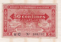 Région économique D Algérie. 50 Centimes, Serie C N°168,737 - Argelia