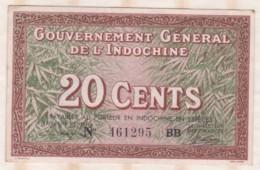 Gouvernement Général De L'Indochine, 20 Cents, N° 461295 BB - Indocina