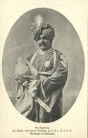 India, Maharaja Of Kolhapur, Shahu IV Chatrapati (1920s) Postcard - India