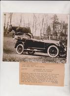 AUTOMOBILE TIPPERARY OWNED BY JACK PRESTAGE OF WASHINGTON HORSE   20*15CM Fonds Victor FORBIN 1864-1947 - Automobiles