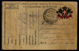 FRANCHIGIA PM 63 DIVISIONE 266° RGT FANT. LECCE  1306 COMP. MITRAGLIERI X PADOVA - War 1914-18