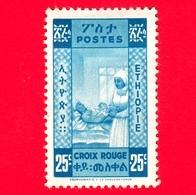 Nuovo - MNL - ETIOPIA - 1936 - Nurse & Baby - Croce Rossa - 25 + 25 - Non Emesso - Ethiopia