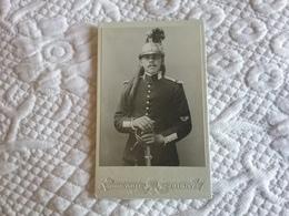 Photo Format CDV Militaire Cuirassier Photographe G.Varlet à Joigny - Guerre, Militaire