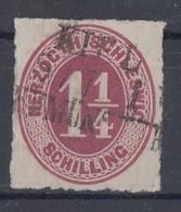 Schleswig-Holstein Minr.18 Gestempelt Farbe - Schleswig-Holstein