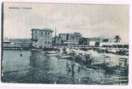 Bagnoli Napoli  Coroglio La Spiaggia Animatissima Anni 30 - Napoli