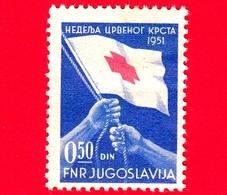 Nuovo - JUGOSLAVIA - 1951 - Croce Rossa - Red Cross - Bandiera - 0.50 - Nuovi