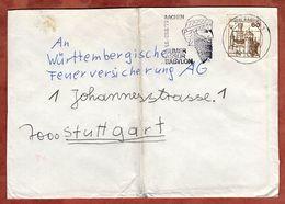 Brief, Marksburg, MS Sumer Assur Babylon Aachen, Nach Stuttgart 1979 (75706) - [7] République Fédérale