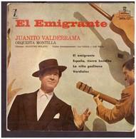 España. Disco De Vinilo A 45 Rpm. Juanito Valderrama. El Emigrante. España Tierra Bendita.... Condicion Media - Vinyl Records
