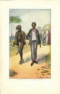 British India, Converted And Unconverted Pariah (1905) Artist Signed Postcard - India